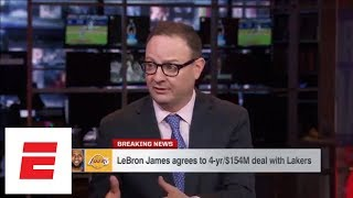 LeBron James agrees to join Los Angeles Lakers on 4-year contract | SportsCenter | ESPN