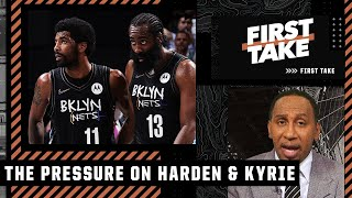'The pressure is on James Harden and Kyrie Irving!' - Stephen A. talks KD and the Nets | First Take