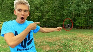 FOUND GAME MASTER LIVING IN OUR BACKYARD!! (exploring abandoned woods)