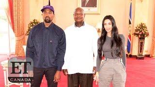 Kanye West, Kim Kardashian Meet With Uganda President