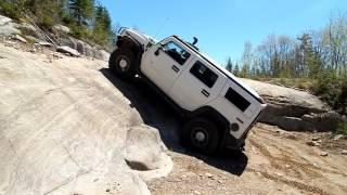 Hummer H2 Off-Roading in Quebec - little moab trail