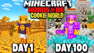 I Survived 100 Days in a COOKIE Only World in Hardcore Minecraft... Here's What Happened