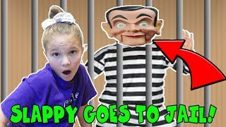 Slappy Goes To Box Fort Jail For 24 Hours and Slappy Escaped | Slappy's back!