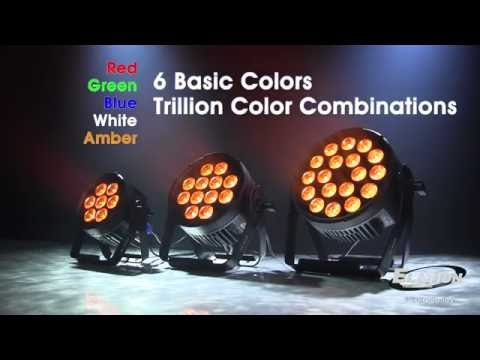 Elation Professional  Six Par Series SixPar100 SixPar200 SixPar300 LED Uplights