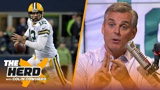 Colin Cowherd blames Aaron Rodgers for the Packers' TNF loss, compares him to Favre   NFL   THE HERD