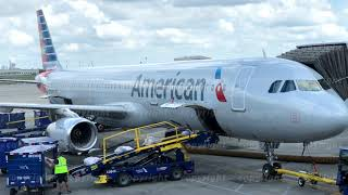 American Airlines airplane in the airport,
