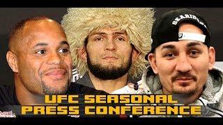 UFC 240, 241, 242 PRESS CONFERENCE: Khabib vs Poirier,  Cormier vs Stipe Miocic