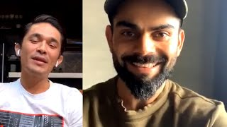 Live Fun Conversation of Virat Kohli About Cricket, Films and Much More with Sunil Chetri.