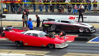 PRO MODIFIED DRAG RACING 3000 HORSEPOWER BURNOUTS
