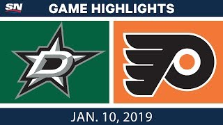 NHL Highlights | Stars vs. Flyers - Jan. 10, 2019