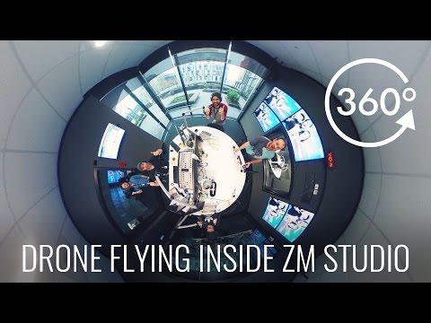 Drone Flying In ZM Studio with Fletch, Vaughan & Megan 360 Video