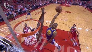 Clint Capela BLOCKS Andre Iguodala's Dunk Attempt - Game 3 | Warriors vs Rockets | 2019 NBA Playoffs