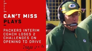Packers Interim Coach Loses 2 Challenges on Falcons Opening TD Drive