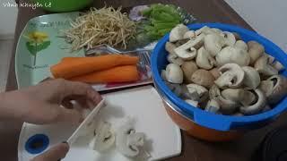 Lẩu Gà - Cách làm Lẩu Gà nấu Nấm và Rau - món ăn đãi tiệc by Vanh Khuyen