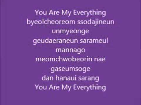 lyric ost Descendants of the sun - you are my everything - gummi