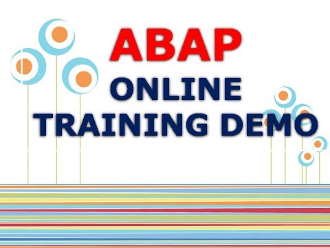 SAP ABAP ONLINE TRAINING | ABAP TRAINING DEMO | ABAP LIVE DEMO | ABAP PROJECT SUPPORT