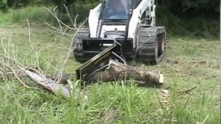 Skid Steer Tree Trimmer and Wood Splitter
