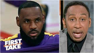 Stephen A. reacts to LeBron criticizing the NBA play-in tournament | First Take