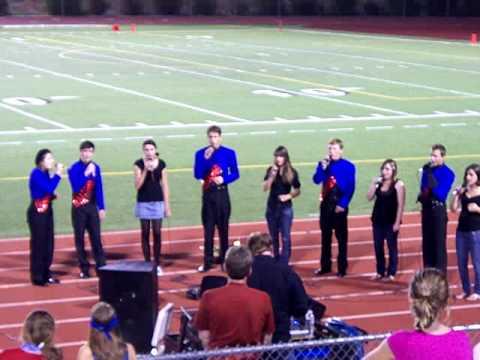 Folsom High School Jazz Choir - Star Spangled Banner Homecoming 2009