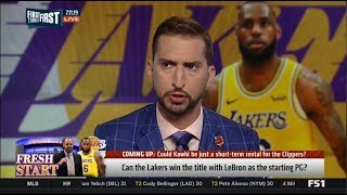 FIRST THINGS FIRST   Nick Wright DEBATE Can the Lakers win the title with LeBron as the starting PG?