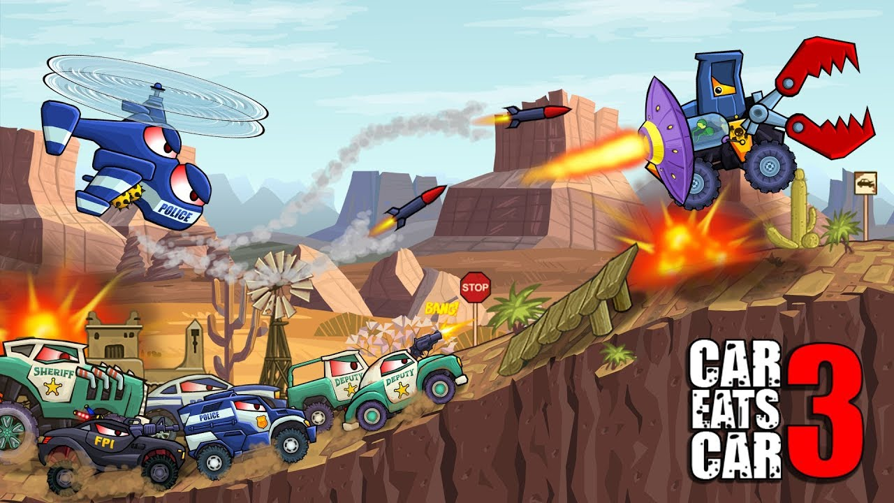 Играй Car Eats Car 3 — Evil Cars На ПК 2