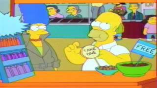 Homer and marge at the candy convention