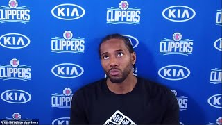 Kawhi Leonard Postgame Interview | Suns vs Clippers | August 4, 2020