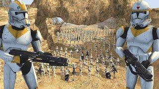 Ryloth Canyon LAST STAND Defense! - Men of War: Star Wars Mod