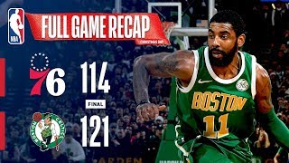 FULL GAME RECAP: 76ERS VS CELTICS | KYRIE GOES FOR 40 & 10 ON CHRISTMAS