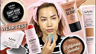 I'M A MESS | FULL FACE OF NEW NYX COSMETICS | WEAR TEST REVIEW