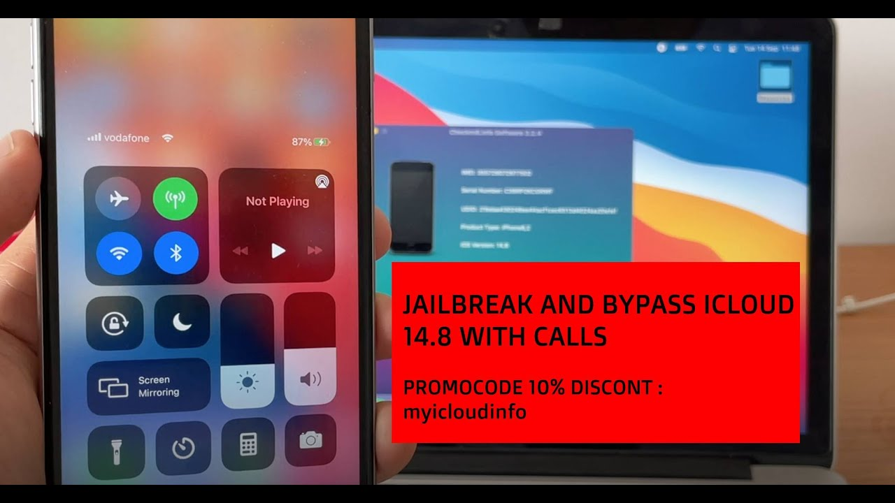 Jailbreak iOS14.8 and full icloud bypass with signal MEID/GSM with calls checkm8info
