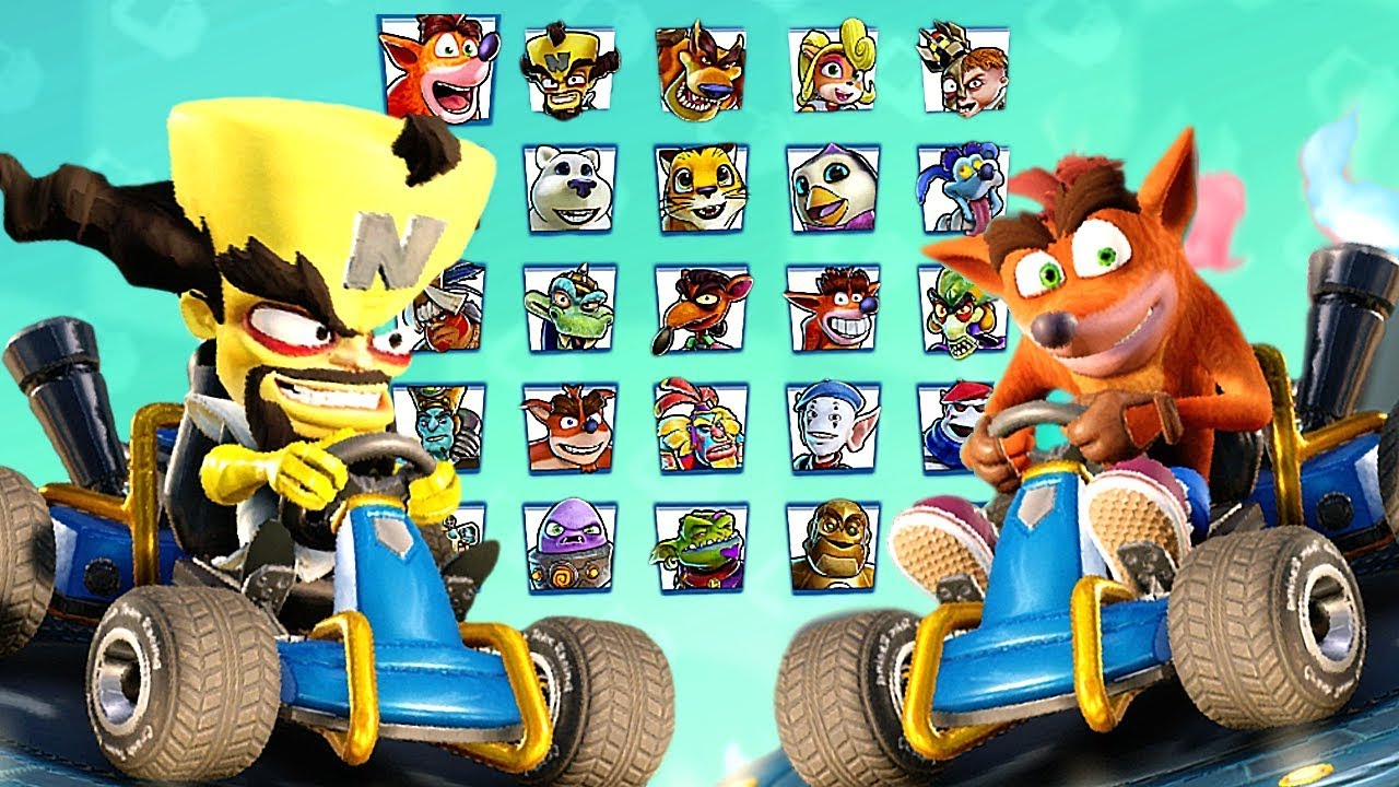 Crash Team Racing Nitro-Fueled All Characters + Penta Penguin (Secret  Character)