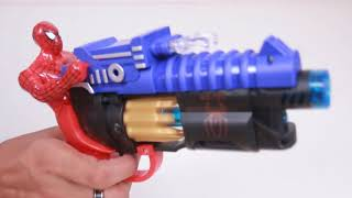 Learn Colors With Spiderman Gun ! Funny Finger Family Nursery Rhymes ! 4k Best #Toys for kids videos