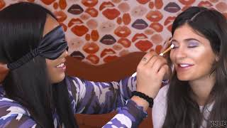 Blindfolded Makeup Challenge | Jordyn Does Kylie's Makeup While Blindfolded