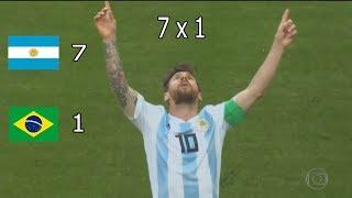 Argentina 7 x 1 Brasil  - Copa América 2019 - Semifinal - Paródia