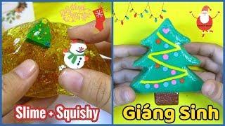 Đồ chơi trẻ em Làm Slime và Squishy cây thông Giáng Sinh/ LioleKids tặng quà/ Ami DIY