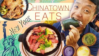 EATING New York Chinatown! CLAYPOT RICE & BEST Fried Dumplings!