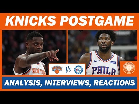 New York Knicks Blow 17 Point Lead vs Philadelphia 76ers | Postgame Analysis and Reactions