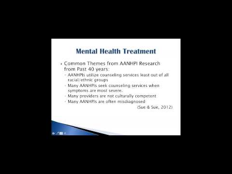 Addressing the Stigma: AAs and NHPIs and Mental Health