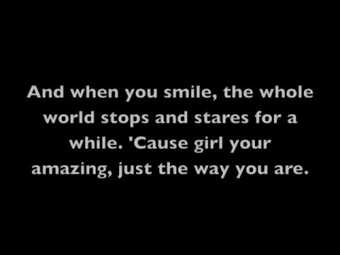 Just The Way You Are- Bruno Mars (Lyrics on Screen)