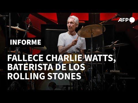 Murió Charlie Watts, baterista de los Rolling Stones, a los 80 años | AFP