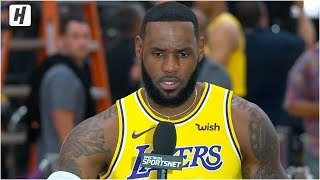 LeBron James On Playing with Anthony Davis, Full Interview | 2019 NBA Media Day
