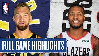 PACERS at TRAIL BLAZERS   FULL GAME HIGHLIGHTS   January 26, 2020