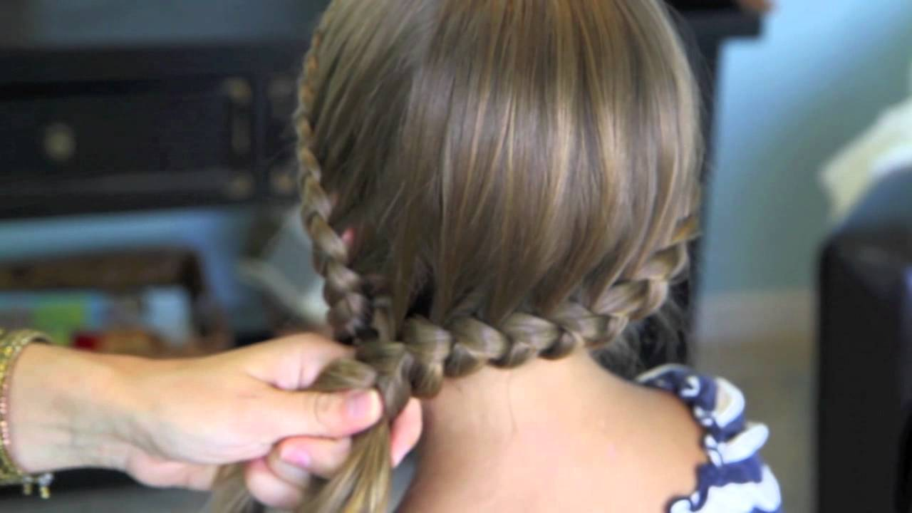 Hairstyles Braids On The Side: Double Lace Into Side Braid