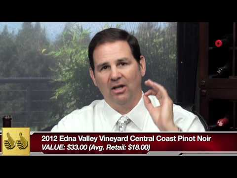 Thumbs Up Wine Review:  Just south of San Luis Obispo on the California coast is where this 2012 Edna Valley Vineyard Central Coast Pinot Noir is made.  If you're ever in the area, make sure to stop in and grab a bottle.  But if you're not in the traveling mood, no problem.  You can pick up a bottle at your nearest grocery store for about $18.  Close enough for you?  The best news?  That bottle is a $33 value!  Click below and download our free wine review app, and you'll always find the best bottles when you're shopping in the wine aisle: iPhone: https://itunes.apple.com/us/app/wine-finder-by-thumbsupwine.com/id537442643?mt=8 Android: https://play.google.com/store/apps/details?id=com.thumbsupwine.ads Windows Phone: http://www.windowsphone.com/en-us/store/app/winefinder/d80430af-75e1-4090-abe5-131ce10469d6 Windows: http://apps.microsoft.com/windows/en-us/app/a6d01b26-96df-46b9-9739-bbba03b0a722  Check out our website: http://www.thumbsupwine.com/  For advance notice on new wines and to win prizes: Like us on Facebook: https://www.facebook.com/ThumbsUpWineReview Follow us on Twitter: https://twitter.com/ThumbsUpWine