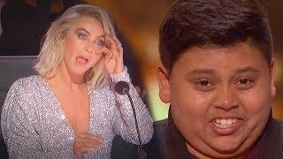 Golden Buzzer Luke Islam Receives From Favorite Judge, Julianne Hough! - America's Got Talent 2019