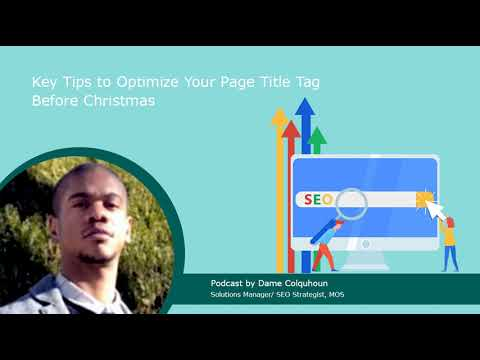 Key Tips to Optimize Your Page Title Tag Before Christmas