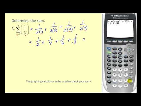 Series And Summation Notation Ck 12 Foundation