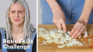 50 People Try to Dice An Onion   Epicurious