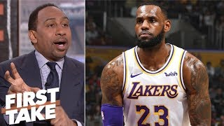 Stephen A.: LeBron is doing what he has to for the Lakers | First Take